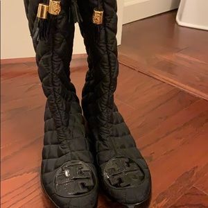 Tory Burch quilted boots